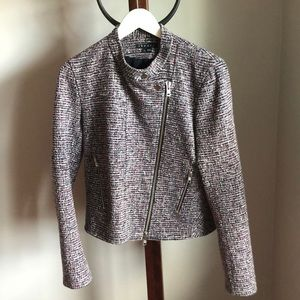 Theory tweed moto jacket